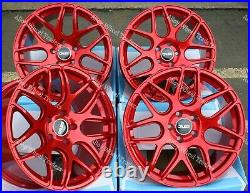 18 Rouge CR1 Roues Alliage Pour Renault Trafic Peugeot Boxer 5x118 Wr