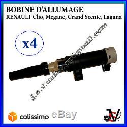 4x BOBINE D'ALLUMAGE Renault 7700875000 82001541086 8200154186 8200405098 245328