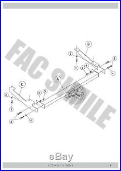 Attelage Démontable 7 Br relais dérivation pour Opel VIVARO VAN 01-06 31075 A3