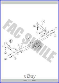 Attelage Démontable Pour Opel VIVARO VAN 00 80 01-06 31075 A3