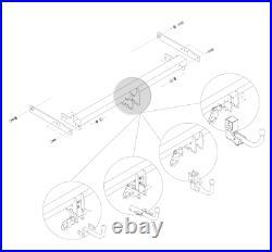 Attelage pour Nissan Opel Renault PRIMASTAR VIVARO TRAFIC 31099/SF