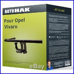 Attelage pour Opel Vivaro B type X82 démontable sans outil Auto Hak TOP