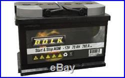 BOLK Batterie de démarrage 70ah/760A Pour RENAULT CLIO SCENIC MEGANE LAGUNA ESPA