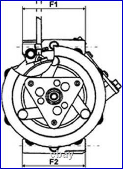Climatisation A/C Compresseur 1140559 27630-00Q0J 09121072 8200950038 12V Neuf