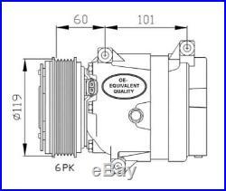 Compresseur climatisation Renault Scenic 1 Megane 1 Trafic 2 Master 2 Espace 3