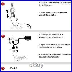Dte Système Pedal Box 3S pour Renault Espace K Ab 2002 2.0L 16V Turbo R4 125KW