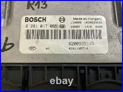 ECU Calculateur moteur RENAULT Trafic Opel Vivaro 2L Dci 0281017065 8200935115