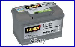 FULMEN Batterie de démarrage 72ah / 720A Pour RENAULT LAGUNA FORD C-MAX FA722