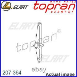 Lève-vitre pour Renault Nissan Opel Trafic II Bus Jl G9U 630 F9Q 762 TOPRAN