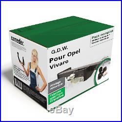 Pack Attelage G. D. W. Pour Opel Vivaro 14- col de cygne + Faisceau sp. 13 broches
