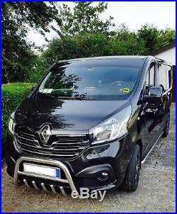 Pare Buffle Bullbar Inox Pour Renault Trafic, Opel Vivaro, Nissan Primastar De 14