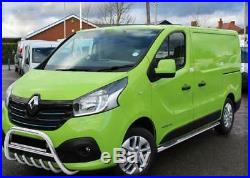Pare Buffle Bullbar Protection Inox Pour Opel Vivaro Renault Trafic 2014-2018
