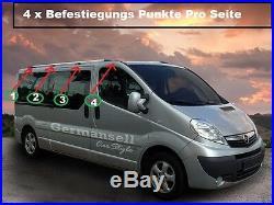 Rails de Toit Opel Vivaro Renault Trafic Nissan Primastar L2 Partir 2001 Chrome