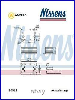 Refroidisseur Huile Moteur pour Nissan Renault Opel X Trail T31 M9R NISSENS