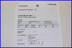 Renault Trafic Opel Vivaro Webasto Kit de Montage pour Air Top 2000st 1323785a